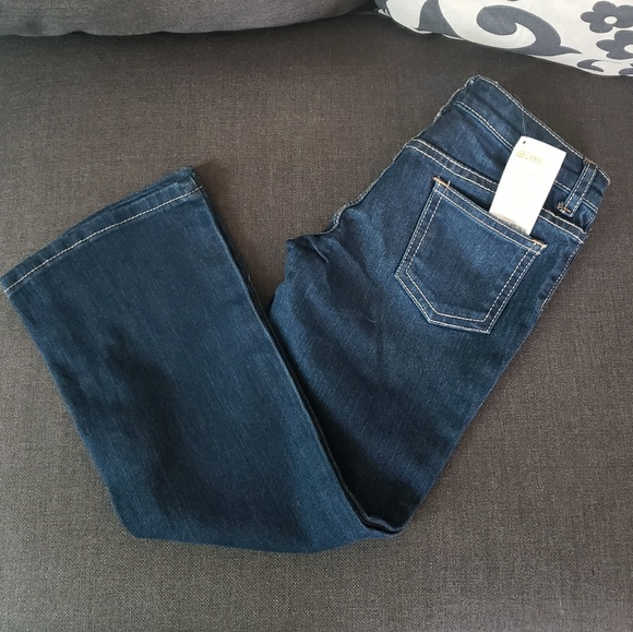 Gymboree Girls Bootcut Blue Jeans Bow Pocket Adjustable Waist NWT Size 7